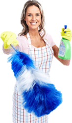 Cleaning lady in Eye